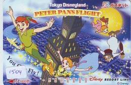 Carte Prépayée Japon  (1504)  DISNEY * RESORT LINE *  PETER PAN'S FLIGHT * CINEMA *  JAPAN PREPAID CARD - Disney