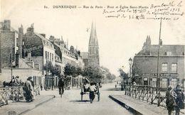 59 - Dunkerque - Rue De Paris - Pont Et Eglise Saint Martin - Dunkerque