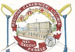 REGIONE CARABINIERI  LIGURIA 10-2-96 TIMBRO 1° GIORNO VEDI RETRO  AUTENTICA 100% - Cartoline