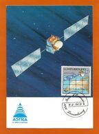 Luxemburg  1989  Mi.Nr. 1218 , Satellite Astra - Maximum Card - Jour D'Emission 6-3-989 - Cartes Maximum