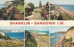 Postcard Shanklin - Sandown Isle Of Wight Multiview PU 1972 By Nigh My Ref  B11915 - Sandown