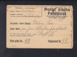KuK Tschechien Feldpost-PK - Briefe U. Dokumente