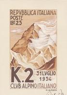 40° ANNIVERSARIO PRIMA SALITA K2 28-5-94 TIMBRO 1° GIORNO VEDI RETRO  AUTENTICA 100% - Cartoline
