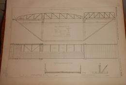 Plan D'un Pont Roulant Pour Chemin De Halage. Système Lemut. 1878 - Travaux Publics