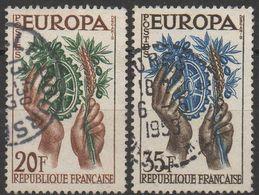 EUROPA  FRANCE  1957  N°1122/1123___OBL VOIR SCAN - Europa-CEPT