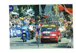 Cp 46 FIGEAC Tour De France 2004 VIctoire David MONCOUTIE Cofidis Voiture SKODA Vélo Cycliste Moto AG2r Crédit Lyonnais - Radsport