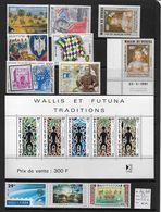 WALLIS ET FUTUNA  - Lot De 11 Timbres ** + 1 Bloc ** - Cote :  86 € - Wallis Y Futuna