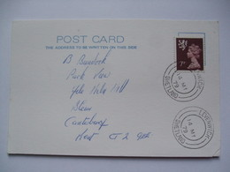 GB - Shetland Postcard With Levenwick Postmarks - Emissions Locales