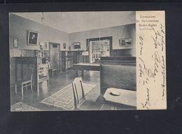 Dt. Reich AK Sanatorium Dr. Heinsheimer Baden-Baden 1909 - Baden-Baden