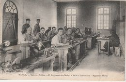 CPA Nancy / Caserne Molitor / 18ème Rég Génie / Appareils Morse / Télégraphe - Radios