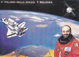 1° ITALIANO NELLO SPAZIO 12-10-94 TIMBRO 1° GIORNO VEDI RETRO  AUTENTICA 100% - Cartoline