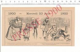 2 Scans 1900 Humour Pasteur Cireur Parquet En Bois Patins Lustrage Cirage Brosses Ville Carentan Mine De Crayon 216PF10R - Vieux Papiers