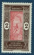 Dahomey (French Colony), Palmtree, 2c., 1913, MH VF - Dahomey (1899-1944)