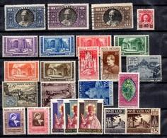 Vatican Belle Petite Collection Neufs Et Oblitérés 1933/1955. Bonnes Valeurs. B/TB. A Saisir! - Collections