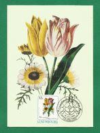 Luxemburg 1988  Mi.Nr. 1192 , Tulipe Et Chrysantheme - Maximum Card - Internationale Briefmarken Messe Essen 14.-17.4.88 - Maximum Cards