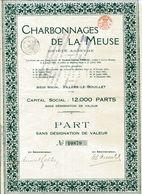 CHARBONNAGES De La MEUSE - Mines