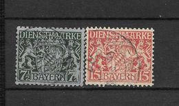 LOTE 1628  ///  ALEMANIA BAYERN   YVERT Nº: SERVICE  26/27 - Bavaria