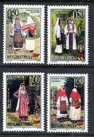BOSNIAN SERB REPUBLIC 2001 Costumes  MNH / **.  Michel 206-09Zf - Bosnia And Herzegovina