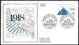1988 - FRANCE - FDC - Y&T 2549 (1914-1918) + PARIS - FDC