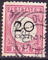 2017-0190 Nederlands Indie 1892 Postage Due Stamp Mi 15 Type I (ring With 34 Parts) Used O - Niederländisch-Indien