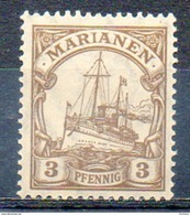 "OCEANIE - MARIANNES - (Colonie Allemande) - 1900 - N° 7 - 3 P. Brun - (Yacht Impérial ""Hohenzollern"") - Northern Mariana Islands"