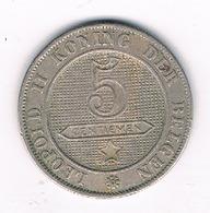 5 CENTIMES  1895 VL   BELGIE /692G/ - 1865-1909: Leopold II