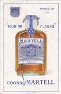 Cpa TOURING FLASKS COGNAC MARTEL 1932 - Publicité