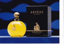 PUB ,,,, ARPEGE  LANVIN,,,,,PLAQUE GLACEE BLEUE , MAGNIFIQUE,,,,, TBE   17 X 13 - Perfume & Beauty