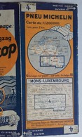 CARTE GÉOGRAPHIQUE Michelin - N° 004 - MONS-LUXEMBOURG N°95 3528 - 6 Frs Belges Sur Papier - Wegenkaarten