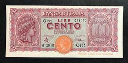 100 LIRE ITALIA TURRITA 10 12 1944 Sup/Q.FDS  LOTTO 388 - [ 1] …-1946 : Kingdom