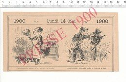 2 Scans 1900 Humour épouvantail Dans Un Champ / Artiste Peintre Art Nouveau ?? Peinture Tableau   216PF10R - Vieux Papiers