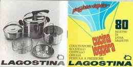 Libretto 80 Ricette Di Lydia Salvetti Per La Pentola A Pressione LAGOSTINA - House & Kitchen