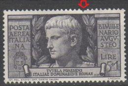 ITALIA 1937 - Augusto P.a. 5+1 L. * - Posta Aerea