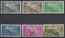 SPANJE - Michel - 1956 - Nr 1073/78 - Gest/Obl/Us - Luftpost