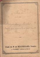 Acte Adjudication MACE De 1920, étude BEAUREGARD, Notaire à PLEMET (22), 12 Pages, Terre Ou Pré - Manuscripts