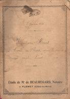 Acte Inventaire HUET De 1920, étude BEAUREGARD, Notaire à PLEMET (22), Cote D'Armor, 12 Pages, Mobilier Et Animaux - Manuscripts