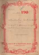 Acte Adjudication HUET 4 Lots De 1910, étude BEAUREGARD, Notaire à PLEMET (22), Cote D'Armor, 12 Pages, Généalogie - Manuscrits