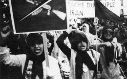 POLITIQUE  L 2  / JANVIER 1979  / MANIF A PARIS CONTRE  KHOMEINI  EN EXIL DEPUIS 65 CPM / CPSM  10 X 15 - Evènements