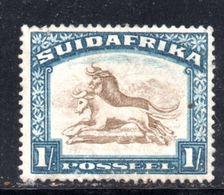 T1341 - SUD AFRICA , 1 Scellino Con Filigrana Antilope CAPOVOLTA INVERTED  **MNH - Sud Africa (...-1961)