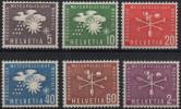 SUISSE Service 375 à 380 ** MNH OMM Organisation Mondiale De Météorologie - Dienstzegels