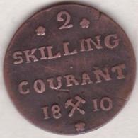 Norvege 2 Skilling Courant 1810. Frederik VI, Variété Petite Couronne, Grande Croix Et Grand 2 - Norvège