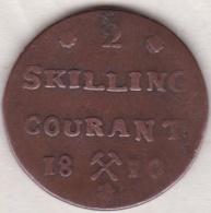 Norvege 2 Skilling Courant 1810. Frederik VI, Variété Petite Couronne, 8 Pétales - Norvège