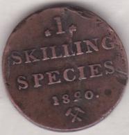 Norvege 1 Skilling Species 1820 . Carl XIV. KM# 286 - Norvège