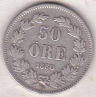 Sweden 50 Öre 1880. Oscar II. Argent. KM# 740 - Suède