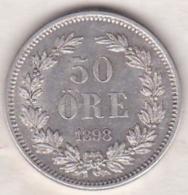 Sweden 50 Öre 1898. Oscar II. Argent. KM# 740 - Suède