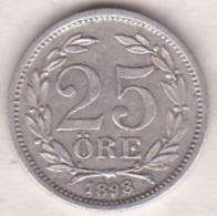 Sweden 25 Öre 1898. Oscar II. Argent. KM# 739 - Suède