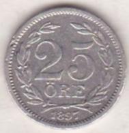 Sweden 25 Öre 1897. Oscar II. Argent. KM# 739 - Suède