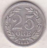 Sweden 25 Öre 1881. Oscar II. Argent. KM# 739 - Suède