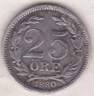 Sweden 25 Öre 1880. Oscar II. Argent. KM# 739 - Suède