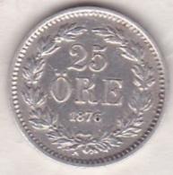 Sweden 25 Öre 1876. Oscar II. Argent. KM# 738 - Suède
